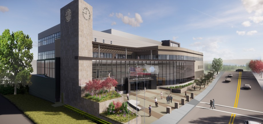 Rendering of the Contra Costa County Administration Building