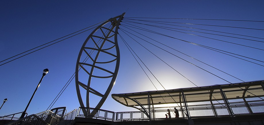 "The Lone Tree Pedestrian Bridge, shortlisted in the ""Public Space"" category"