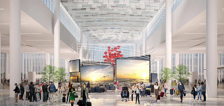 "Orlando International Airport South Terminal C, shortlisted in the ""Transport: Future"" category"