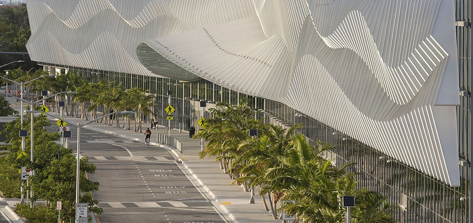 "The Miami Beach Convention Center Expansion and Renovation, shortlisted in the ""Culture"" category"